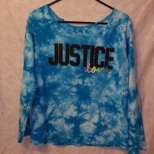 Justice tie dye sweatshirt